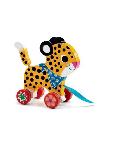 Djeco - Drewniana zabawka do ciągnięcia LAMPART DJ06220