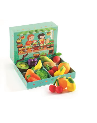 Djeco - Zestaw owoców i warzyw 12 szt  DJ06621