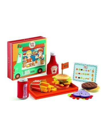 Djeco - Zestaw jedzenie fast food Ricky & Daisy DJ06635