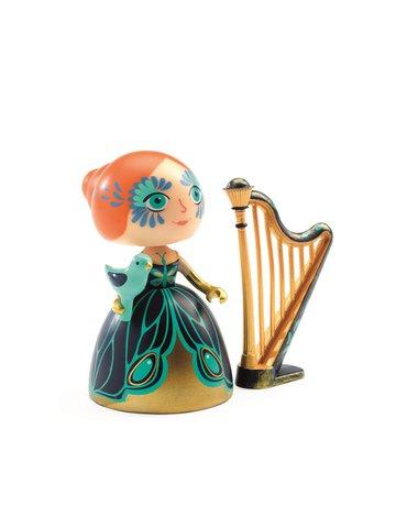 Djeco - Figurka księżniczki Elisa z harfą DJ06771