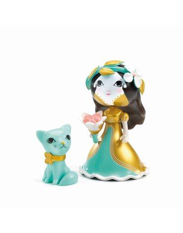 Djeco - Figurka ksiniczki EVA z kotkiem DJ06783