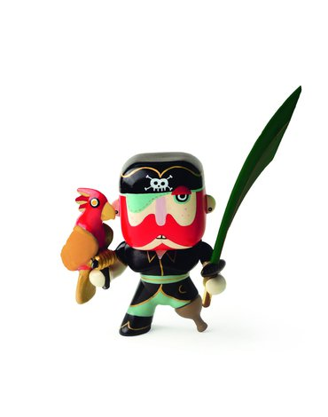 Djeco - Figurka pirata Sam z papugą  DJ06816