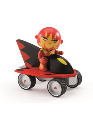 Djeco - Figurka super bohatera Firebird z pojazdem DJ06935