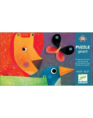Djeco - Puzzle PARADA ZWIERZĄT 1,33m 36 elementów DJ07171