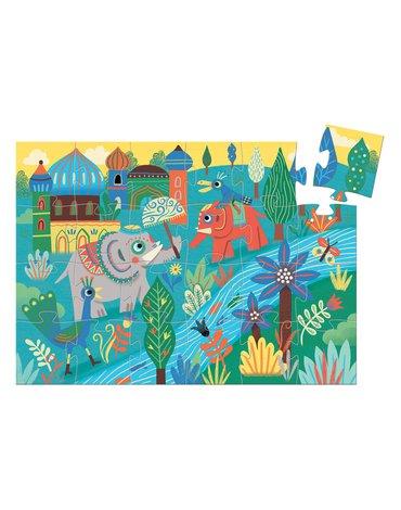 Djeco - Puzzle w pudełku SŁOŃ AZJATYCKI DJ07208