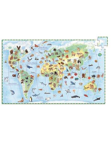 Djeco - Puzzle świat zwierząt z książeczką 100el.DJ07420