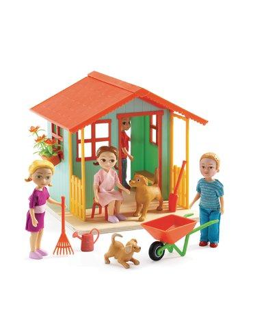 Djeco - Zestaw domek w ogrodzie DJ07835
