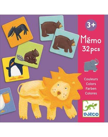 Djeco - Gra pamięciowa kolorowe zwierzątka DJ08110
