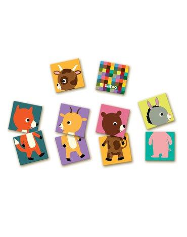 Djeco - Gra edukacyjna MEMO ANIMO PUZZLE DJ08126