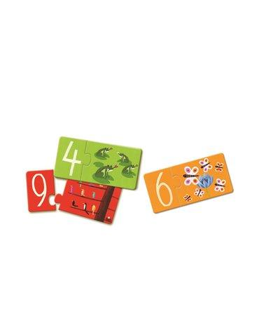 Djeco - Puzzle łączenie liczb i liter DJ08151