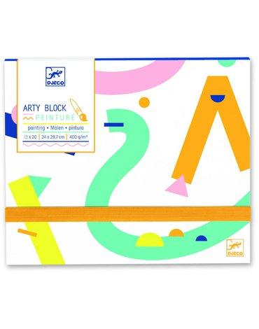 Djeco - Papier do malowania Arty block DJ08787