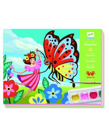 Djeco - Zestaw artystyczny z farbami MINUSCULE DJ08962
