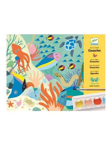Djeco - Zestaw artystyczny z farbami ŚWIAT NATURY DJ08965