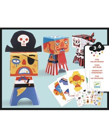 Djeco - Zestaw składanek papierowych PIRACI DJ09042