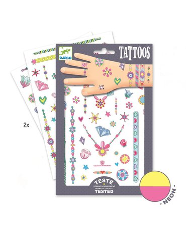 Djeco - Tatuaże neonowe KLEJNOTY JENNI DJ09587