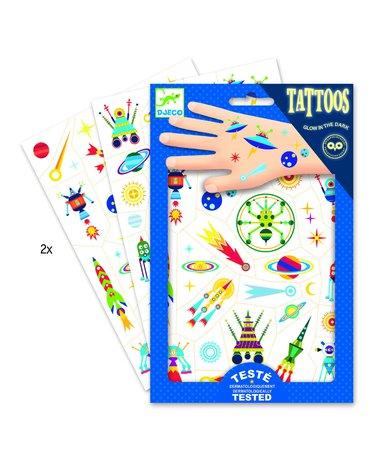 Djeco - Tatuaże KOSMOS- świecące w ciemności DJ09590