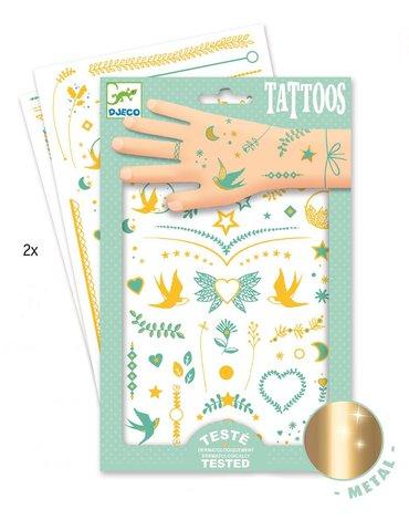 Djeco - Tatuaże metaliczne KLEJNOTY LILY DJ09593
