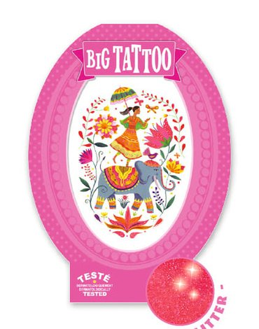 Djeco - Tatuaż RÓŻA INDII DJ09602