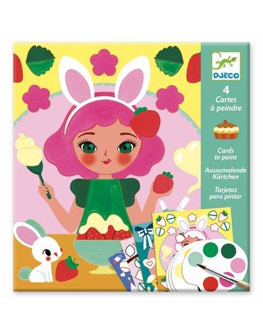 Djeco - Kolorowanka z farbami - CZAS NA PRZEKĄSKĘ DJ09659