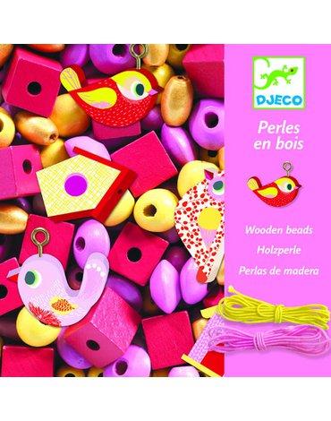 Djeco - Zestaw do tworzenia biżuterii PTAKI DJ09809