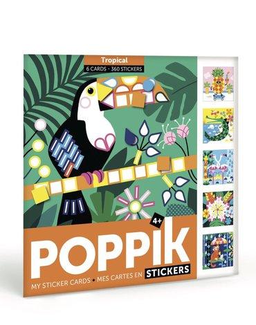 POPPIK - Pocztówki z naklejkami TROPIKI - Wiek 4+