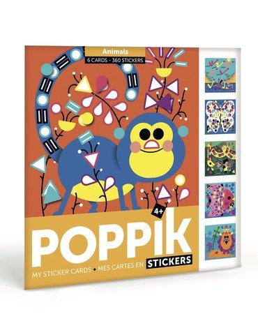 POPPIK - Pocztówki z naklejkami ZWIERZĘTA - Wiek 4+