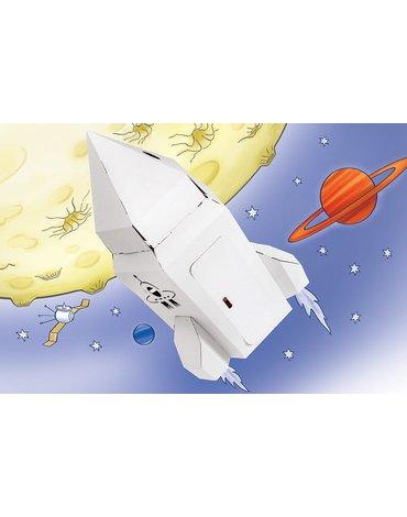 Tektorado - Rakieta kosmiczna kartonowa mała - zestaw 4 sztuk