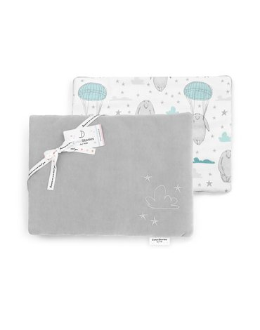 ColorStories - Poduszka welurowa TeddyBear Grey