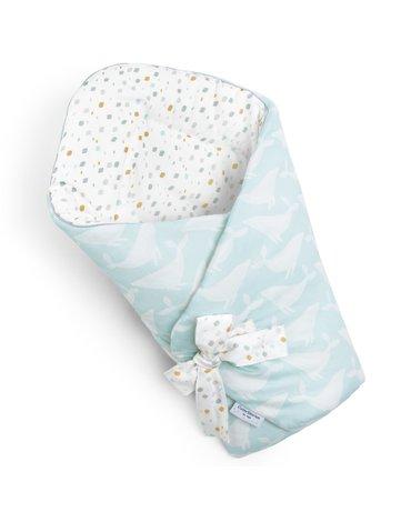ColorStories - Rożek niemowlęcy Whales Aqua