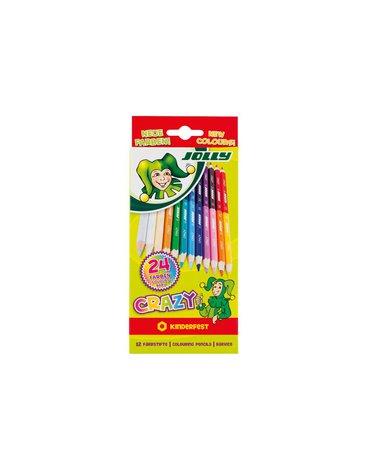 Jolly - Kredki dwustronne Crazy 12 kolory
