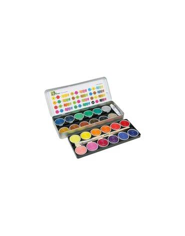 Jolly - Farby 24 kolory plus biała i pędzle