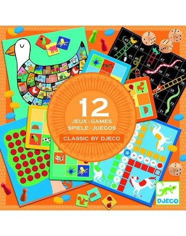 Djeco - Zestaw 12 gier Classic box 4+  DJ05218