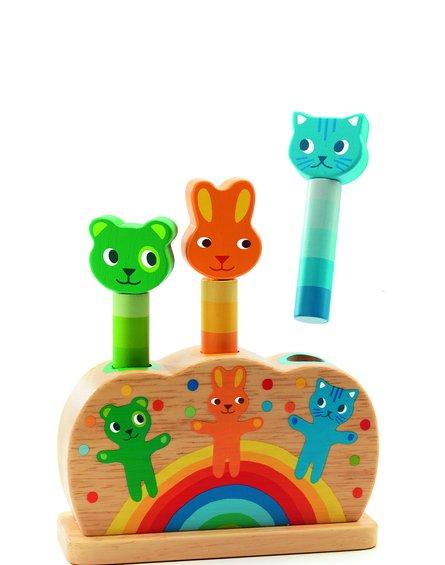 Djeco - Drewniana zabawka dopasowywanie kotki Pipop pidoo