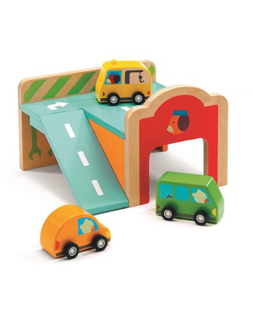 Djeco - Drewniana zabawka mini Garaż DJ06387