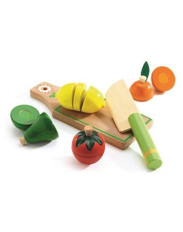 Djeco - Drewniane warzywa i owoce do krojenia DJ06526