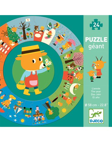 "Djeco - Puzzle kartonowe gigant ""PORY ROKU"" DJ07016"