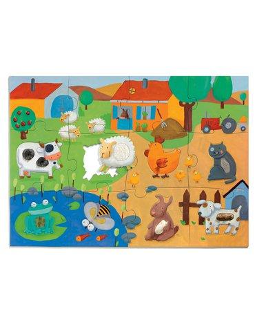 Djeco - Puzzle sensoryczne FARMA DJ07117