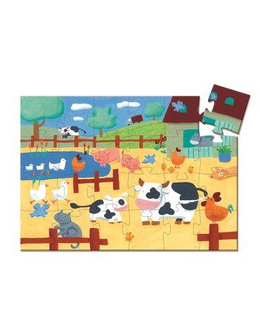 Djeco - Puzzle tekturowe KRÓWKA DJ07205