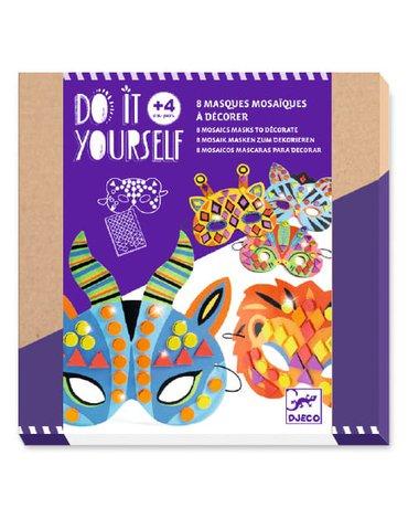 Djeco - Zrób to sam - zestaw 8 mozaikowych masek DJ07900