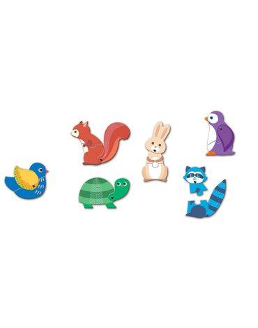 Djeco - Puzzle tekturowe ruchome ZWIERZĘTA DJ08175