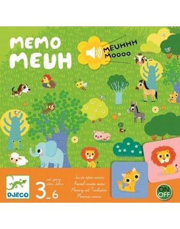 Djeco - Gra planszowa MEMO MEUUUH Z DŹWIĘKIEM DJ08482