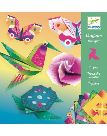 Djeco - Origami TROPIKI (neonowe) DJ08754