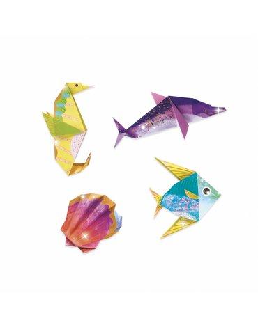Djeco - Origami MORSKIE ZWIERZĘTA (metaliczne)  DJ08755