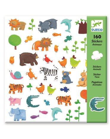 Djeco - Zestaw pojedynczych naklejek zwierzątka DJ08841