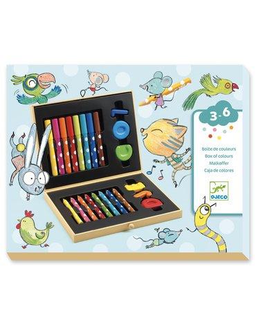 Djeco - Zestaw art. dla maluchów, kredki, mazaki  DJ09010