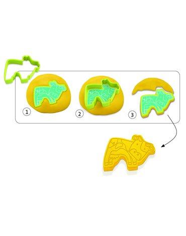 Djeco - 6 foremek-stempli do masy plast ZWIERZĄTKA DJ09023
