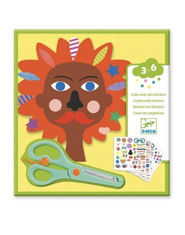 Djeco - Zestaw art. z naklejkami FRYZJER DJ09045
