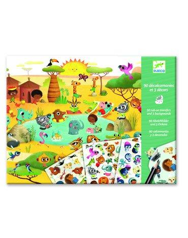 Djeco - Zestaw kalkomanii - KRAINY DJ09560