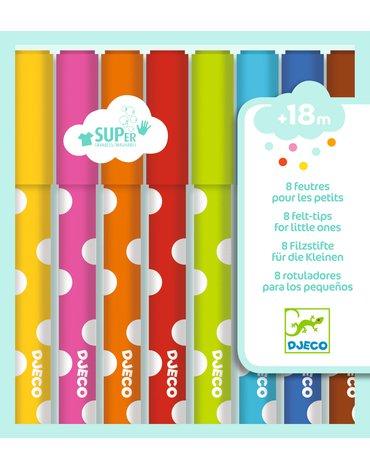 Djeco - Flamastry dla maluchów 8 kolorów DJ09001