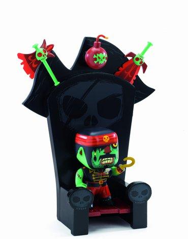 Djeco - Figurka pirata Kyle & ze throne